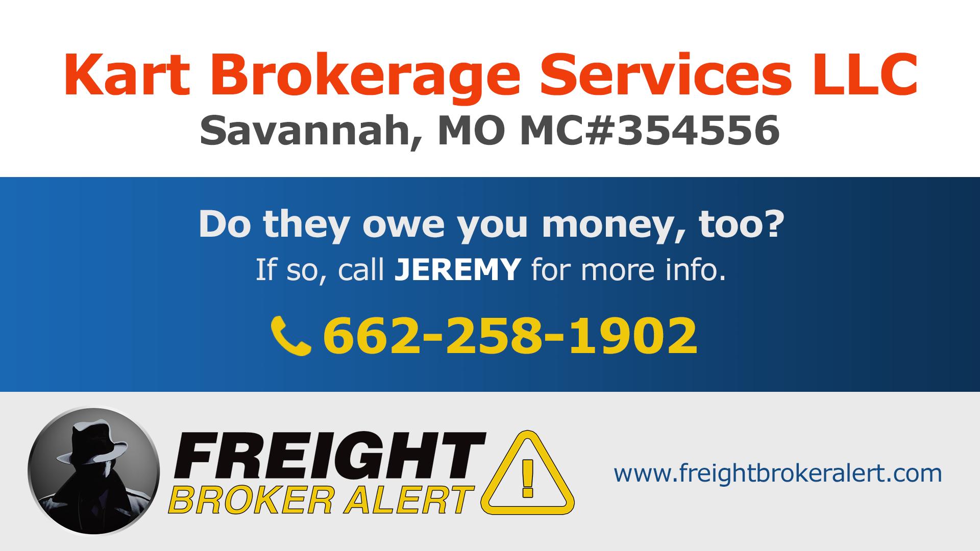 Kart Brokerage Services LLC | Freight Broker Alert