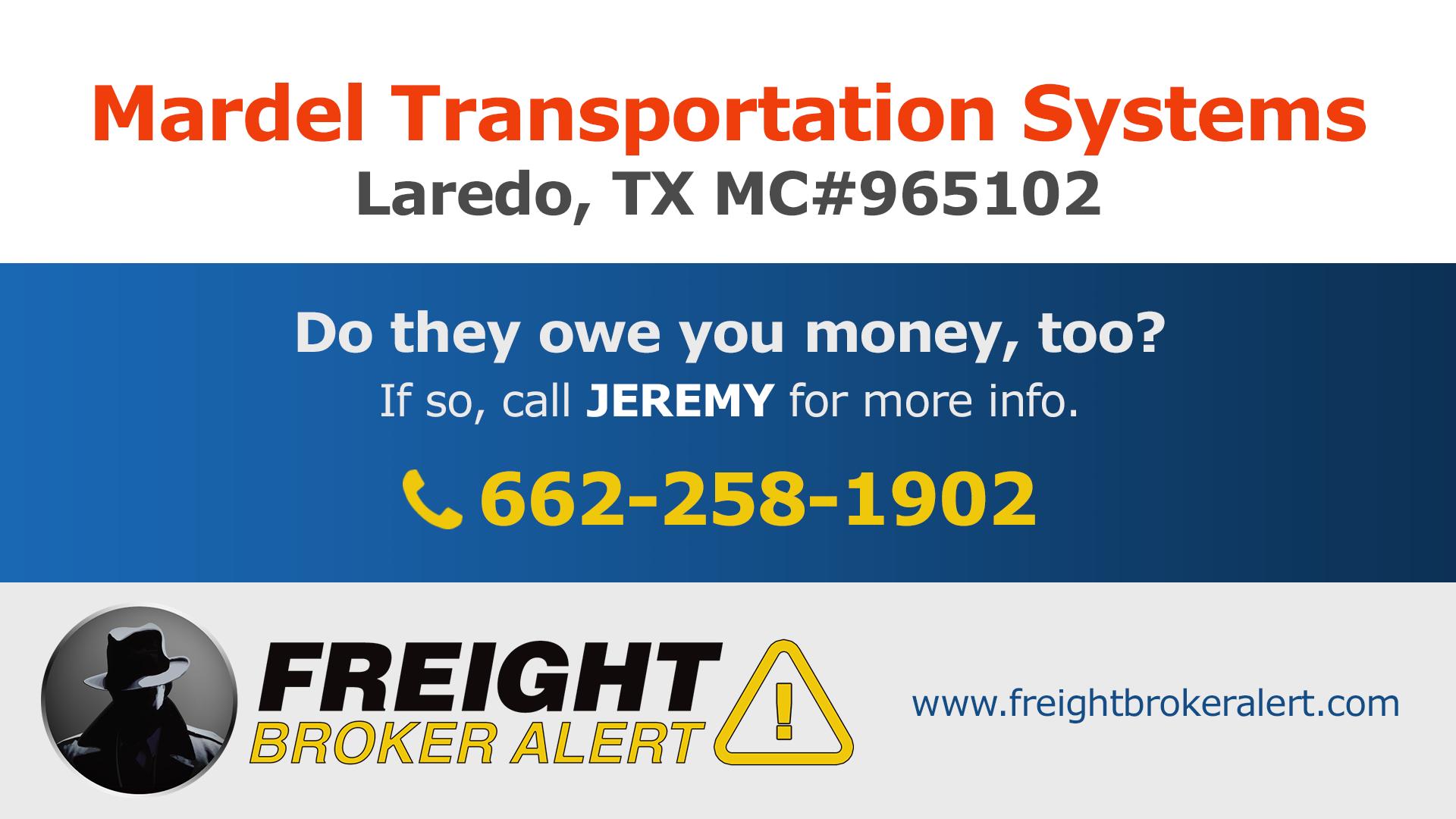 Mardel Transportation Systems LLC Texas