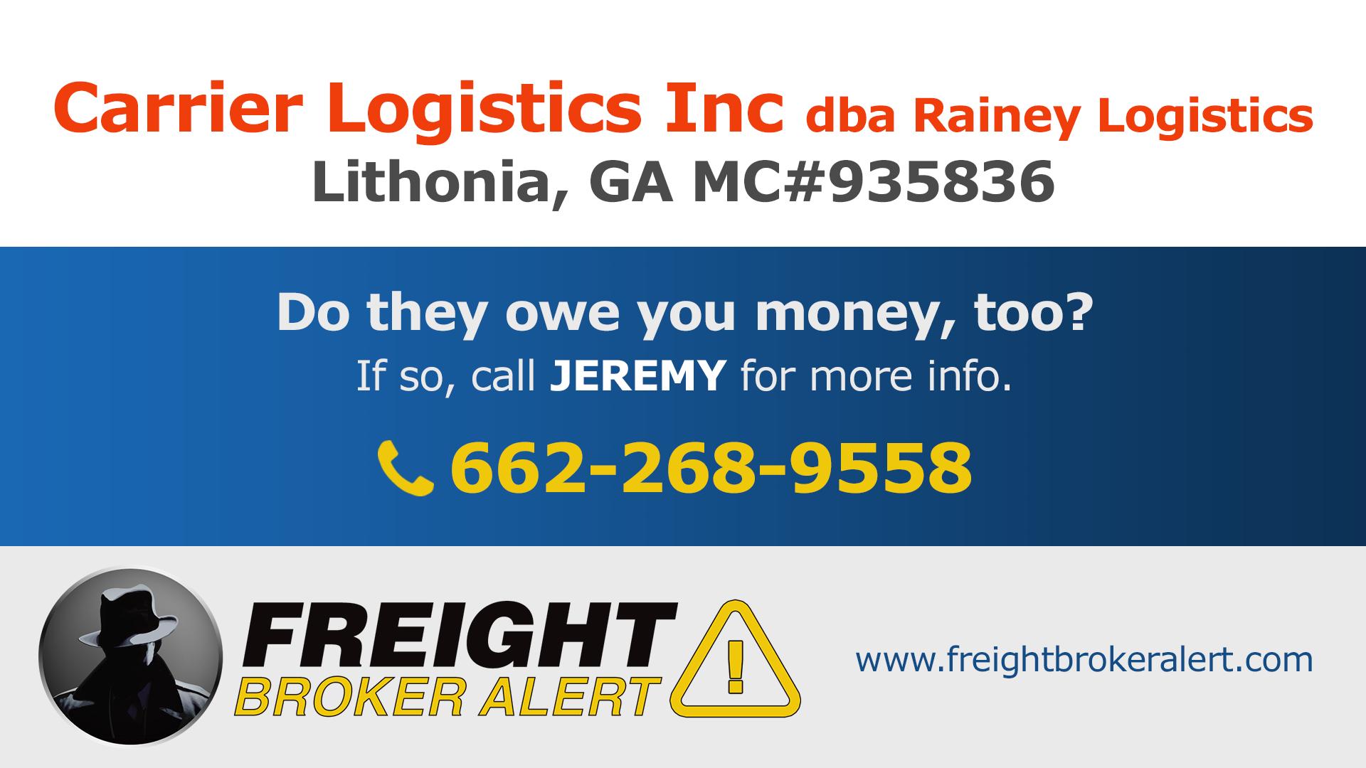 Carrier Logistics Inc Georgia