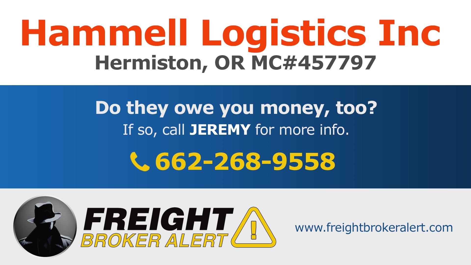 Hammell Logistics Inc Oregon