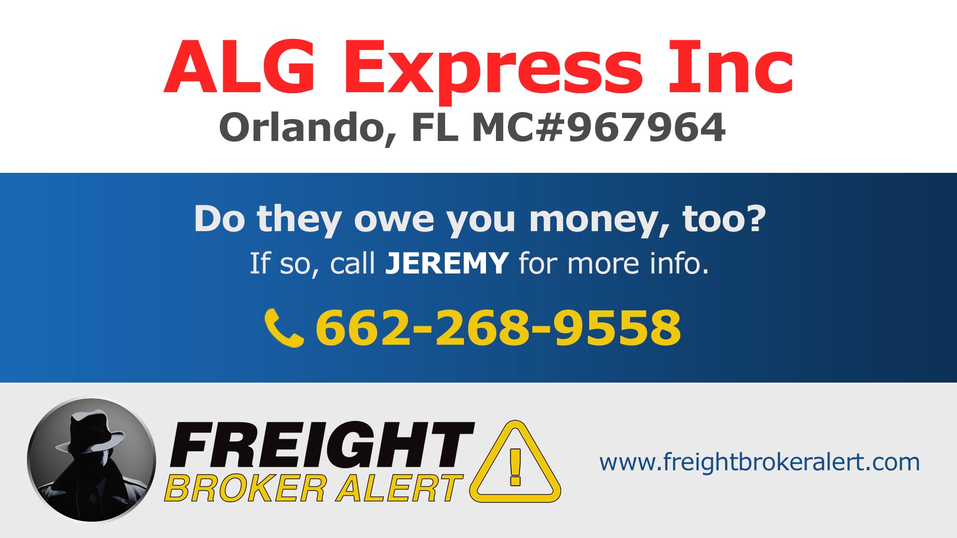 ALG Express Inc Florida
