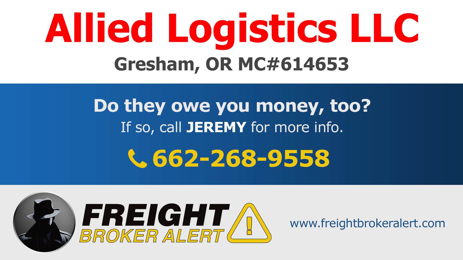 Allied Logistics LLC Oregon