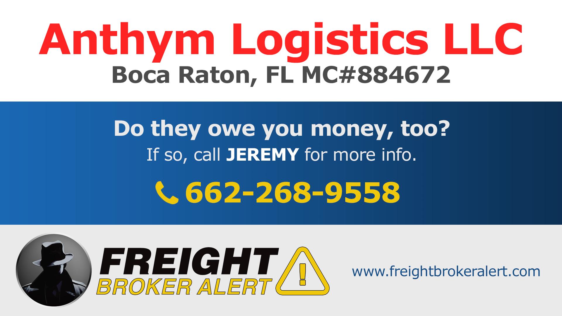 Anthym Logistics LLC Florida