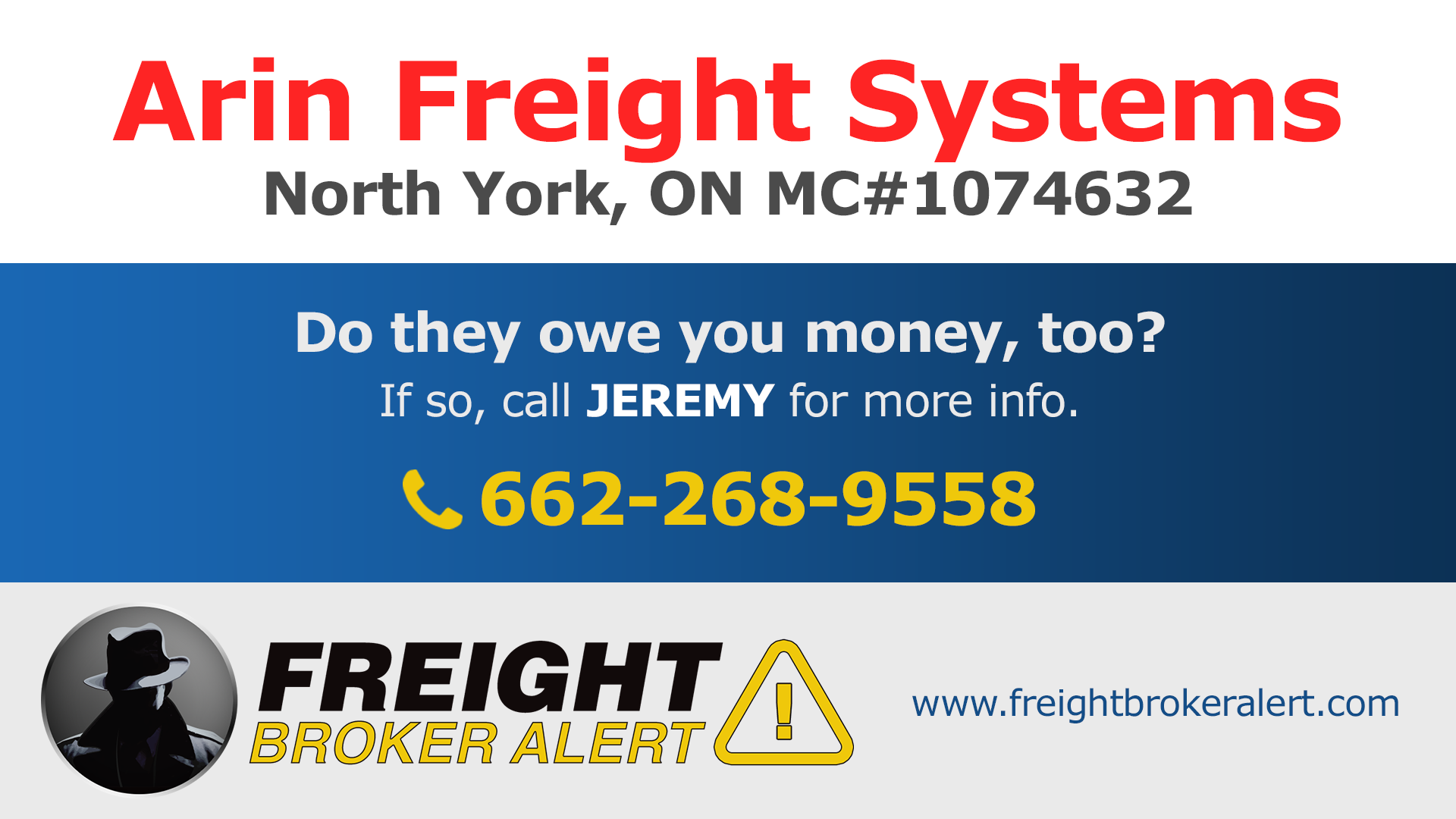 Arin Freight Systems Inc Ontario