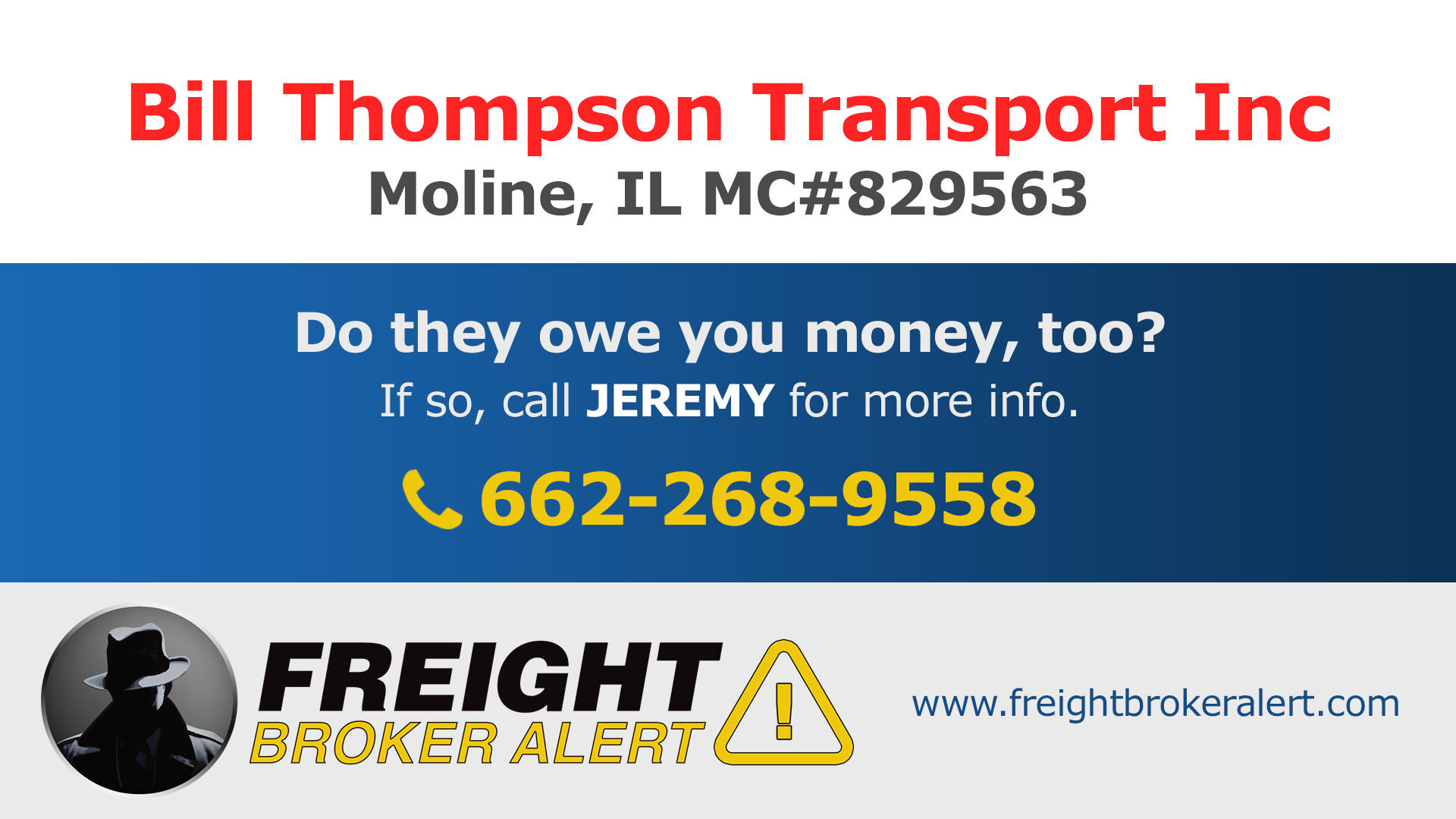 Bill Thompson Transport Inc Illinois