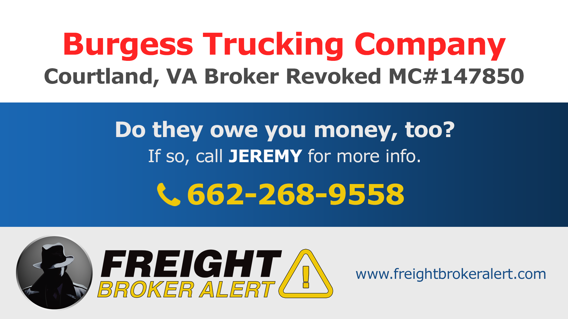 Burgess Trucking Company Inc Virginia
