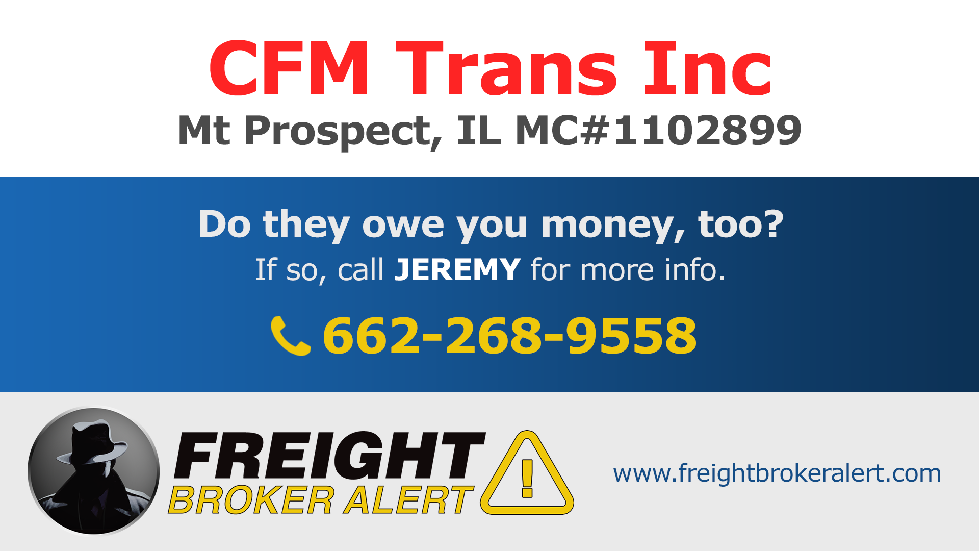 CFM Trans Inc Illinois