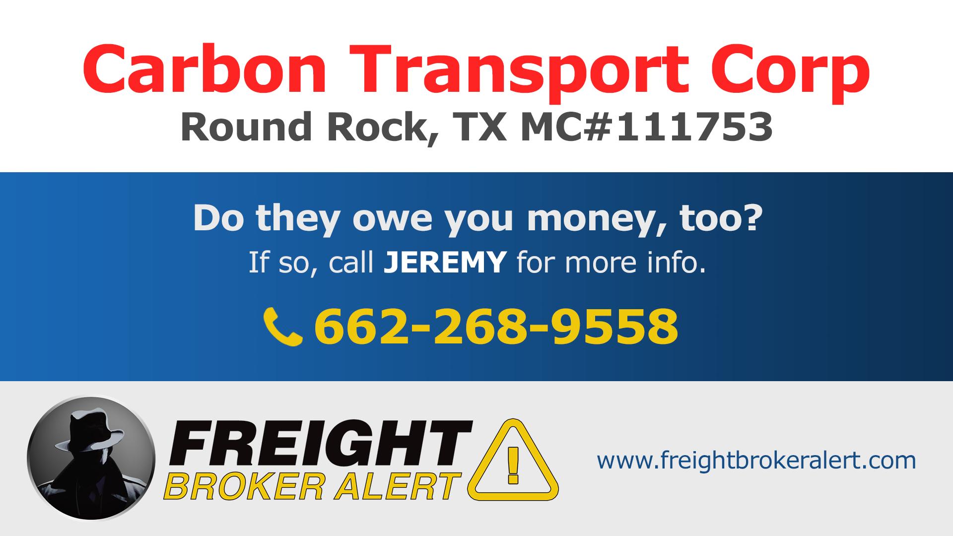 Carbon Transport Corp Texas