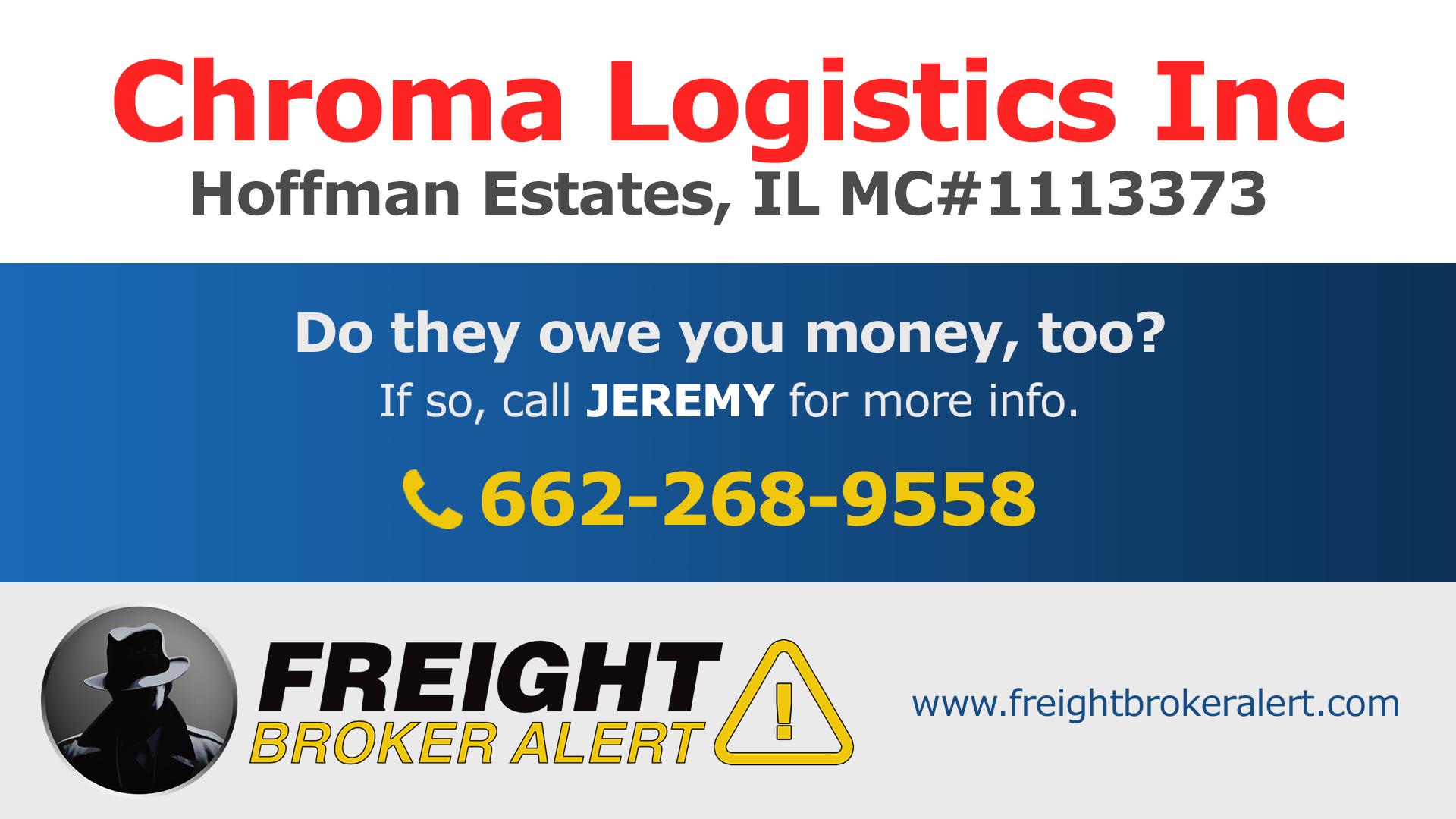 Chroma Logistics Inc Illinois