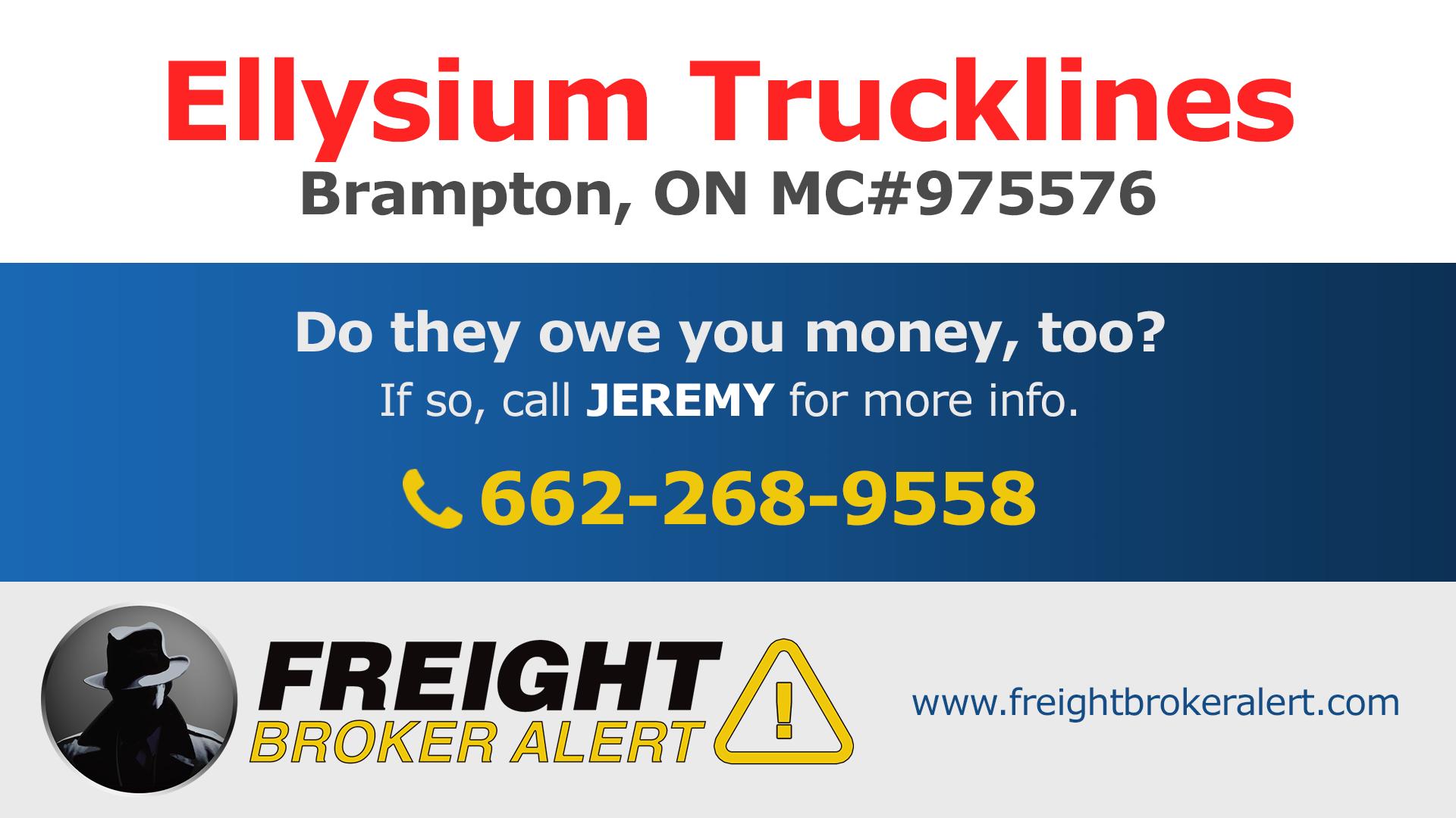 Ellysium Trucklines Ontario