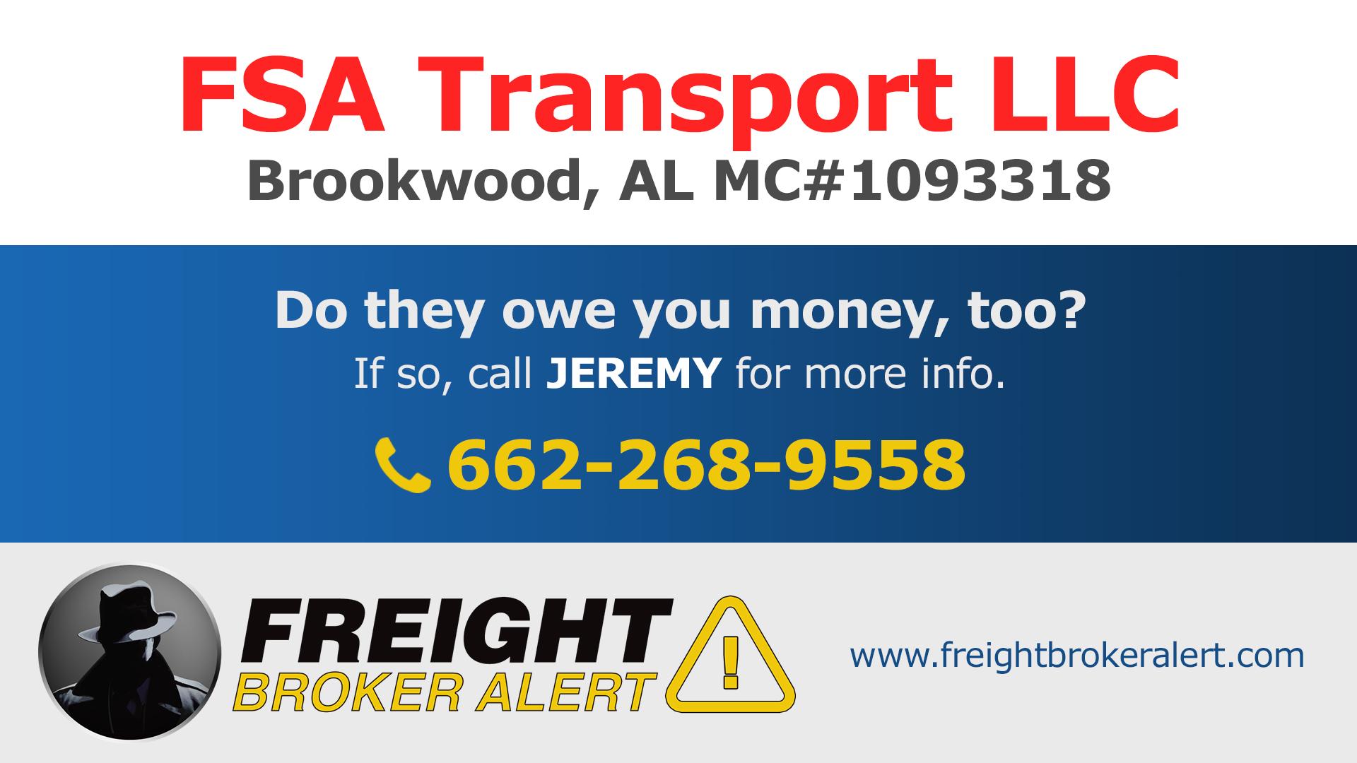FSA Transport LLC Alabama