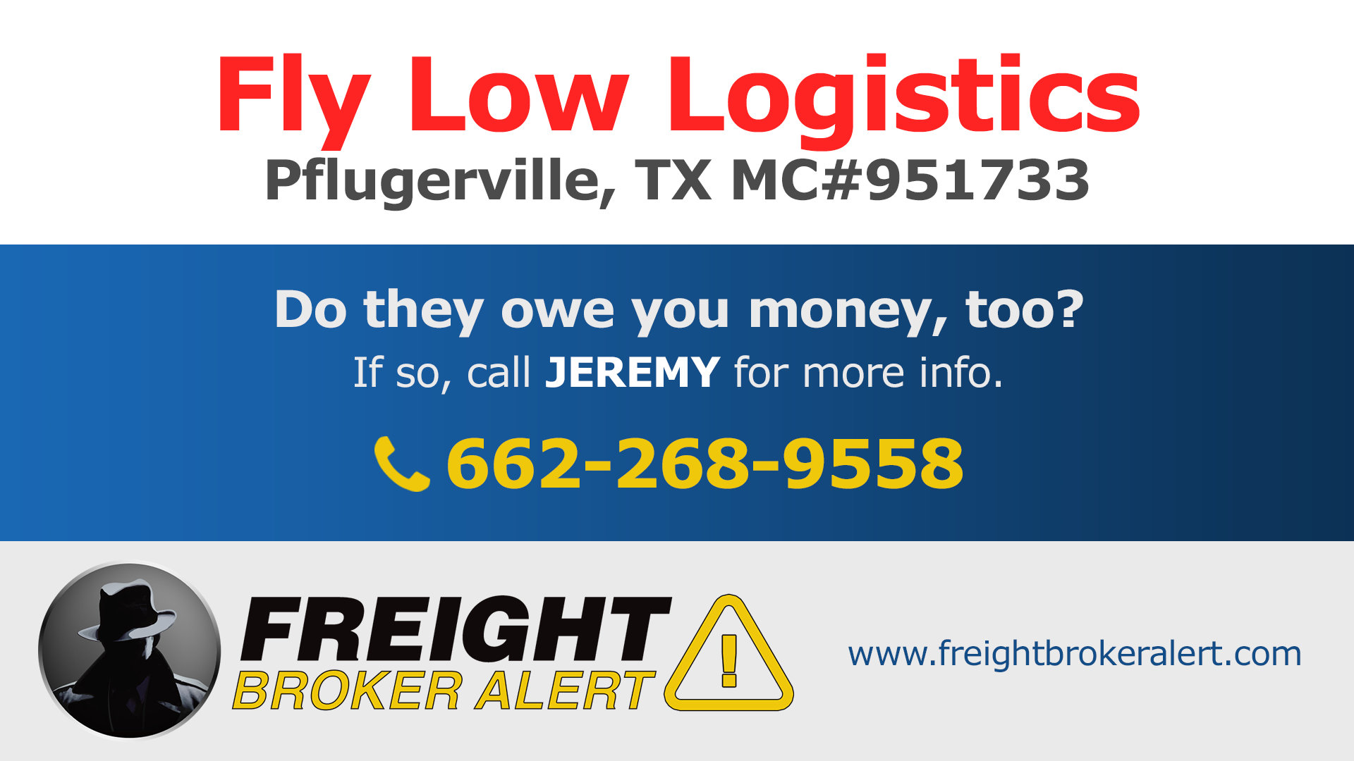 Fly Low Logistics Texas
