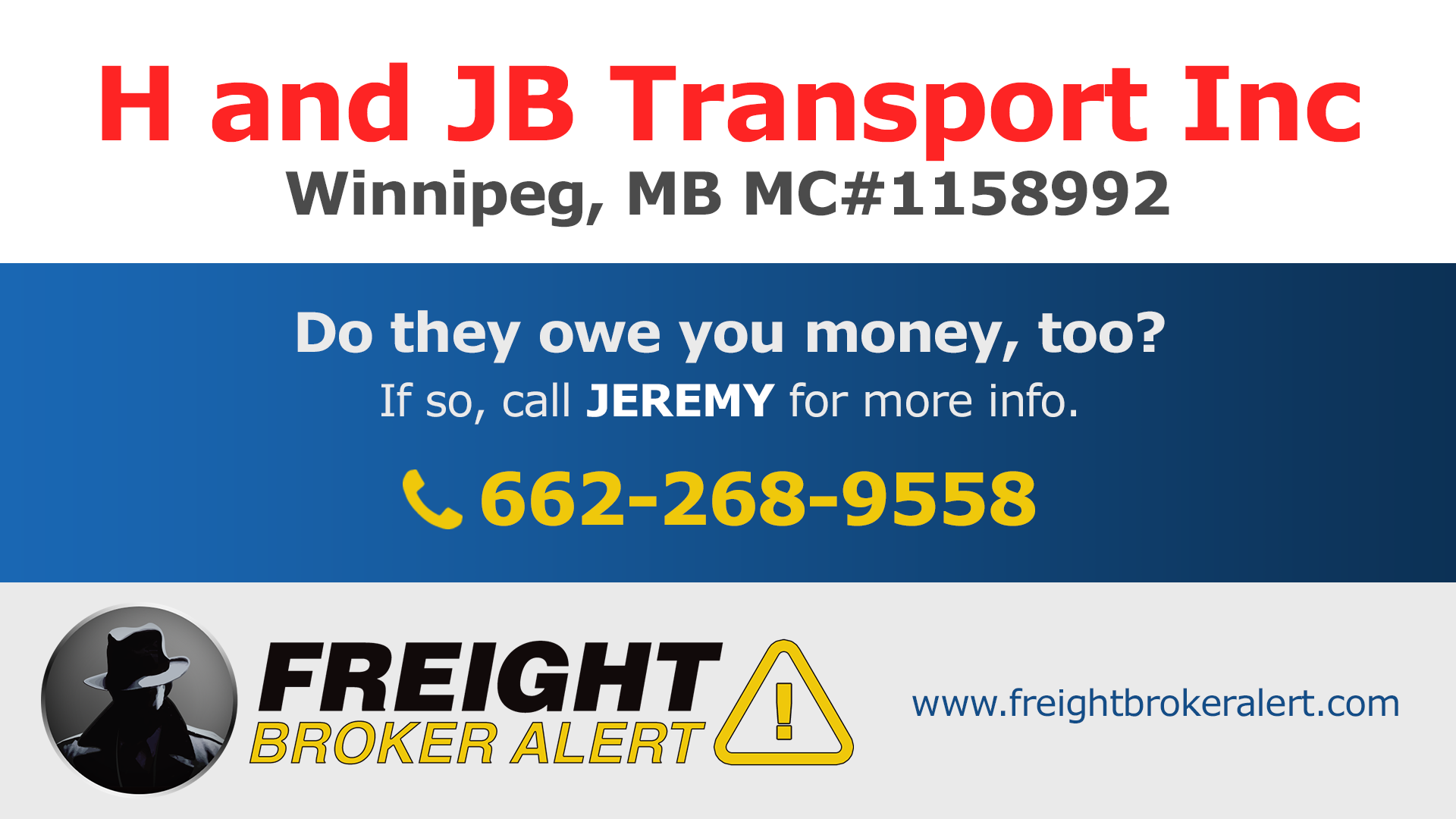 H and JB Transport Inc Manitoba