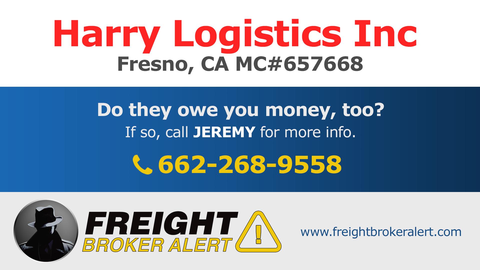 Harry Logistics Inc California