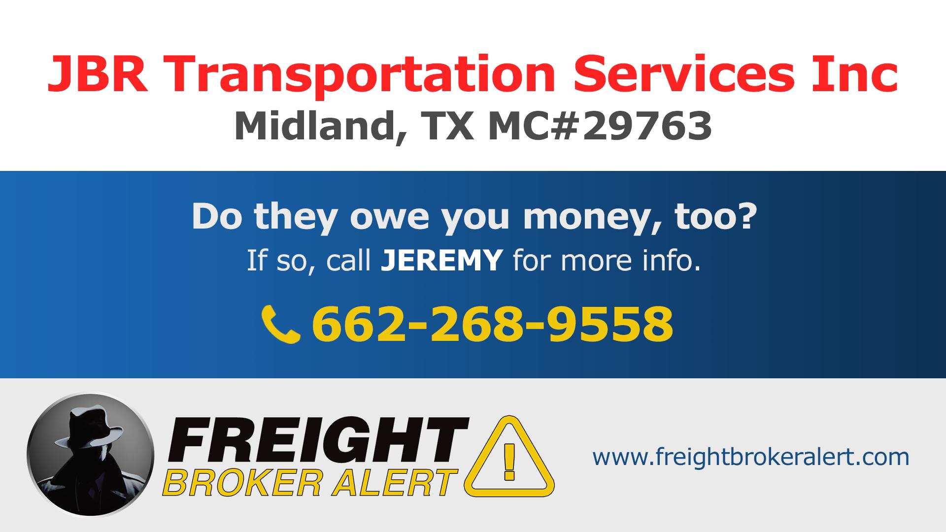 JBR Transportation Services Inc Texas