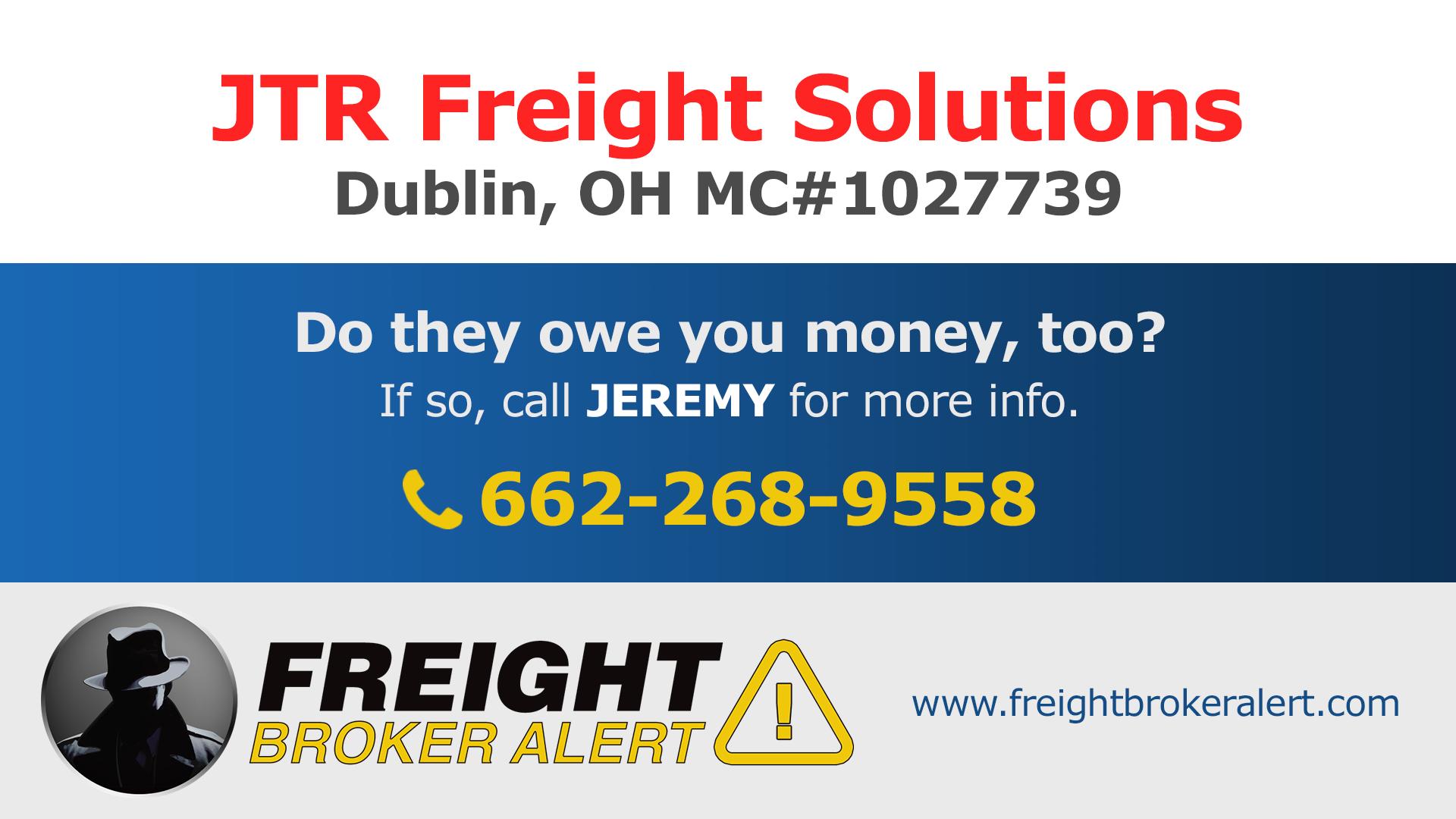 JTR Freight Solutions LLC Ohio