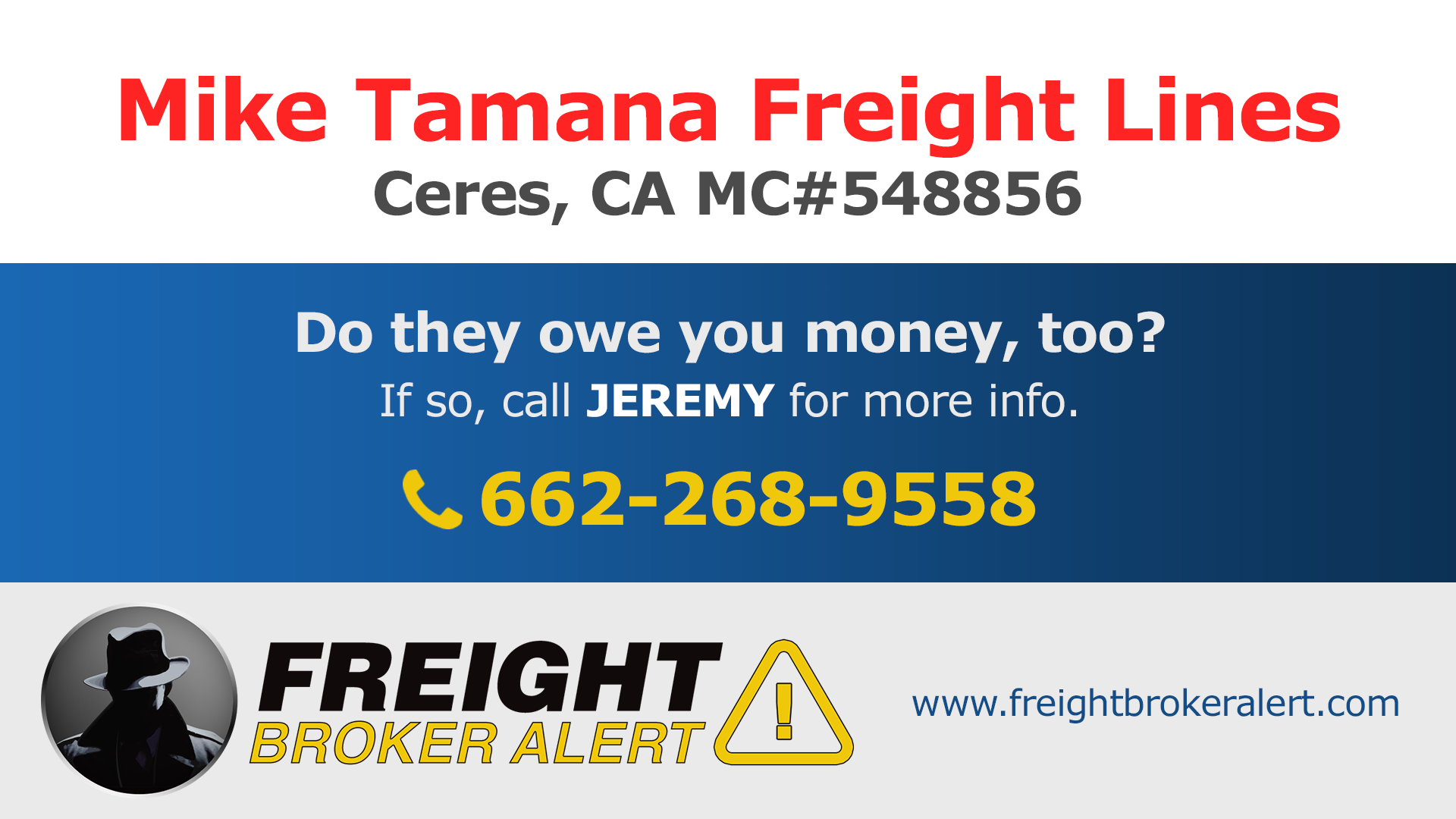 Mike Tamana Freight Lines LLC California