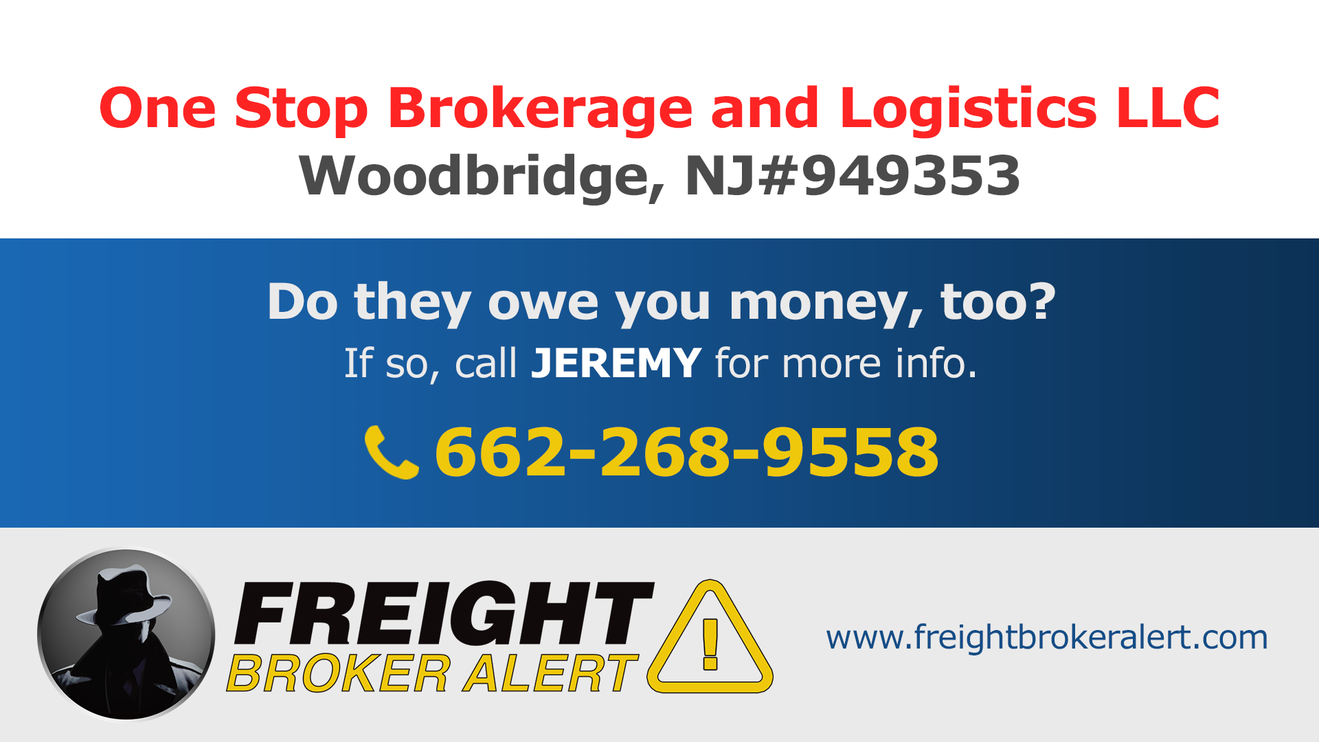 One Stop Brokerage and Logistics LLC New Jersey