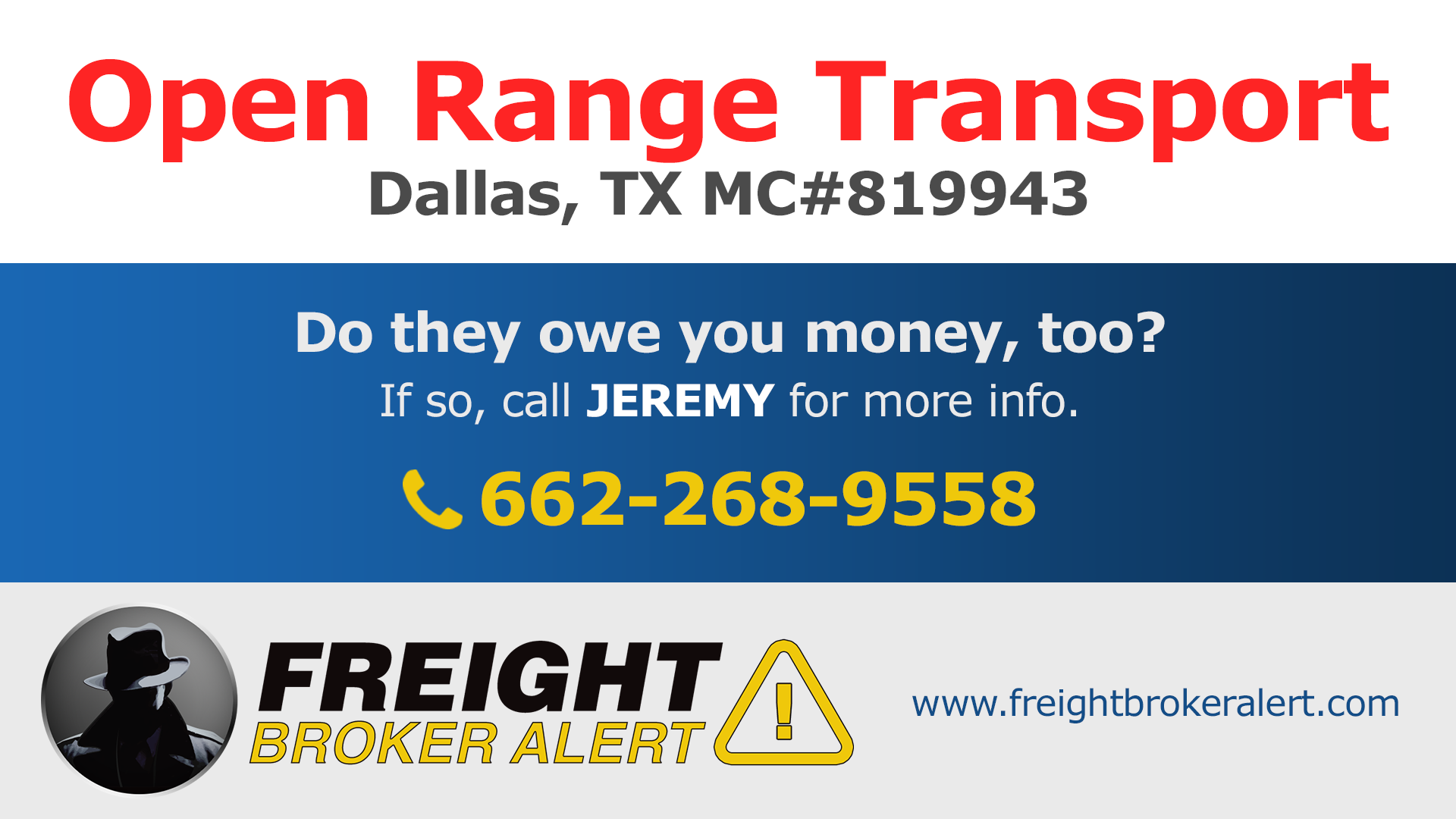 Open Range Transport Texas