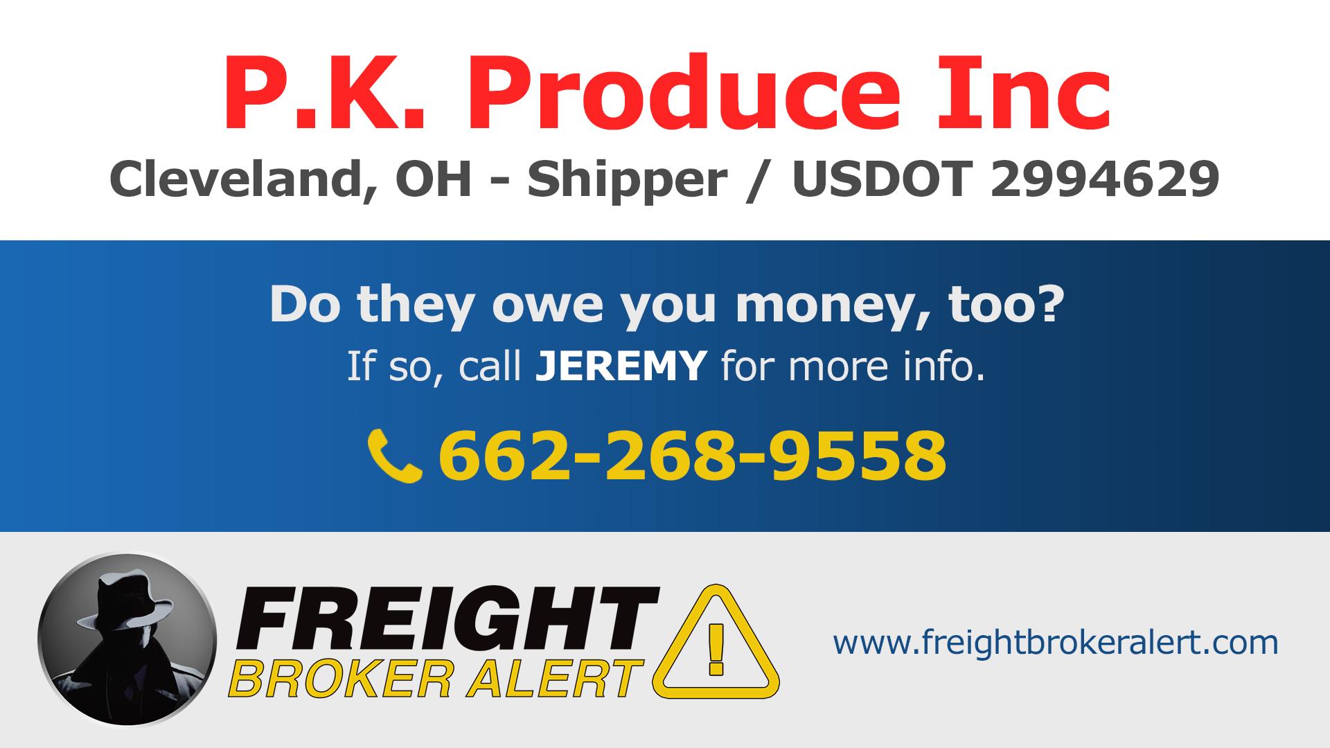 PK Produce Inc Ohio