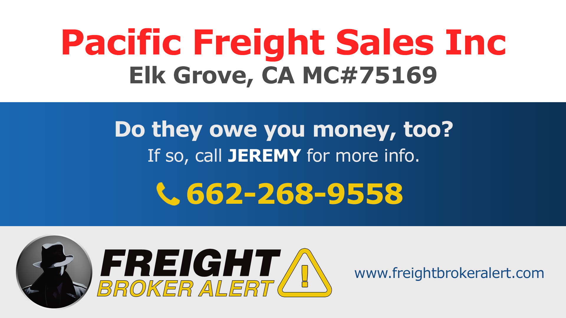 Pacific Freight Sales Inc California