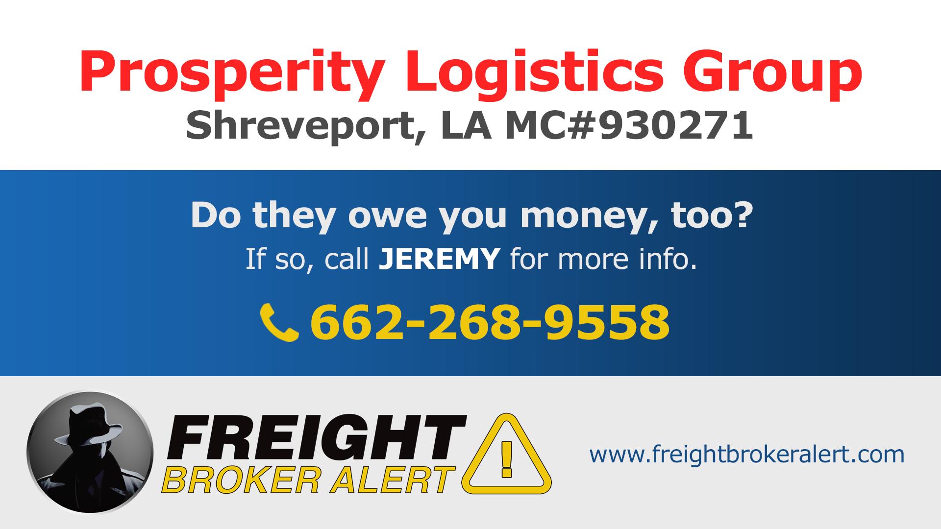 Prosperity Logistics Group LLC Louisiana