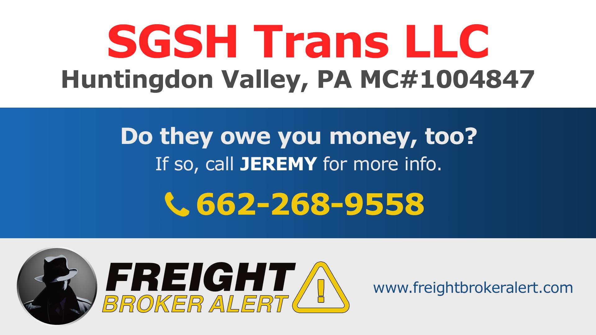 SGSH Trans LLC Pennsylvania