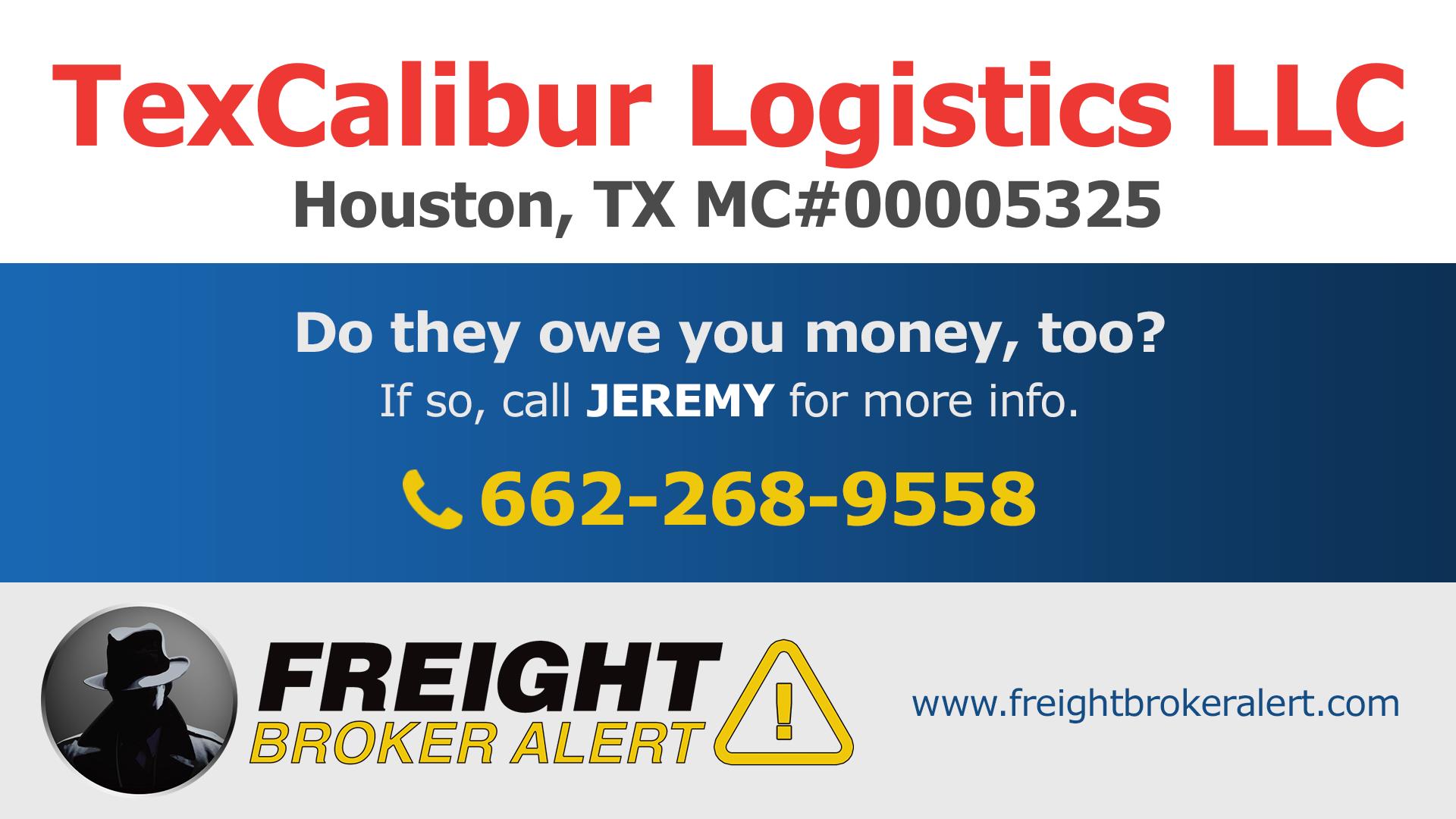 TexCalibur Logistics LLC Texas