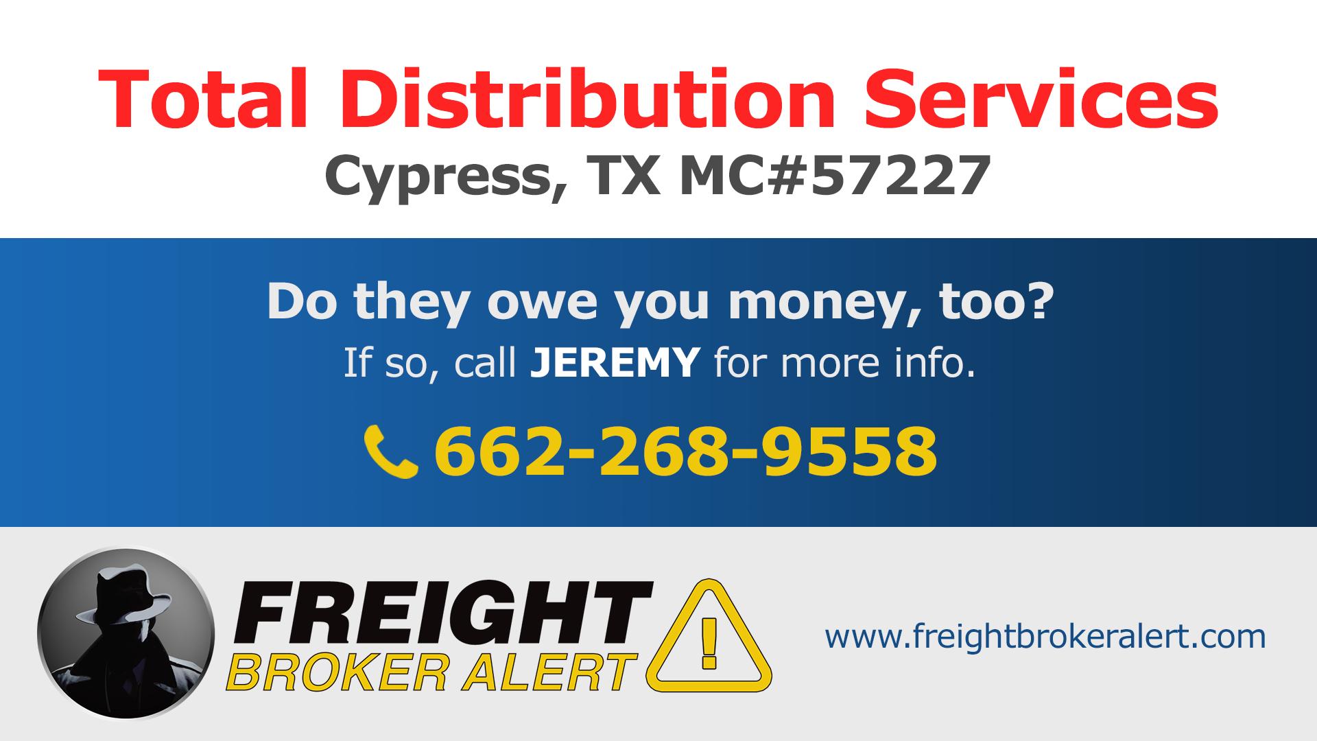Total Distribution Services LLC Texas
