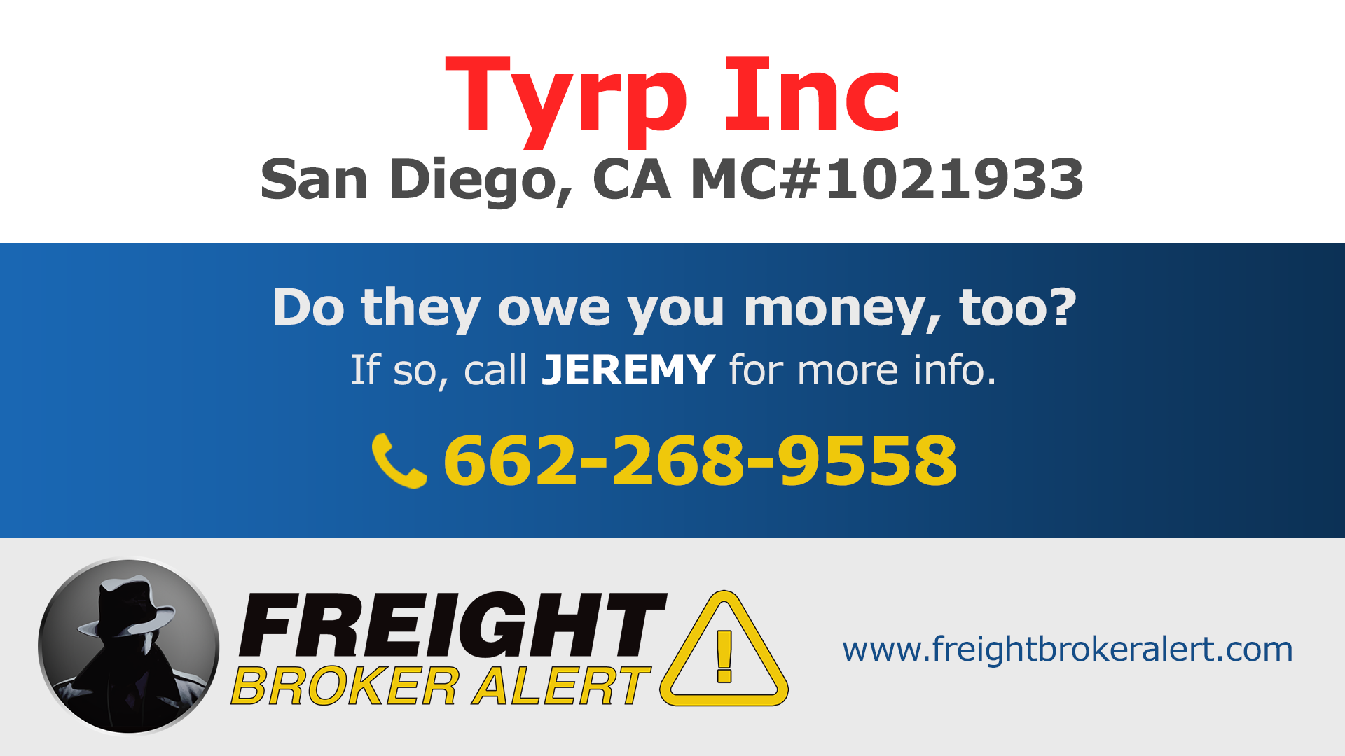 Tyrp Inc California