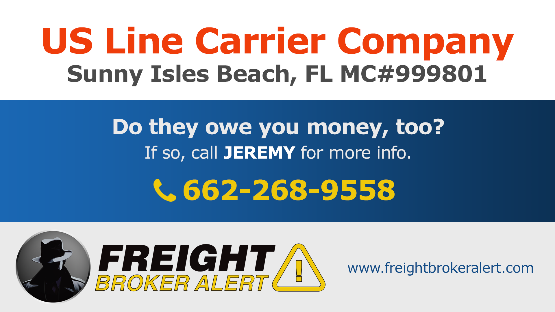 US Line Carrier Company Inc Florida