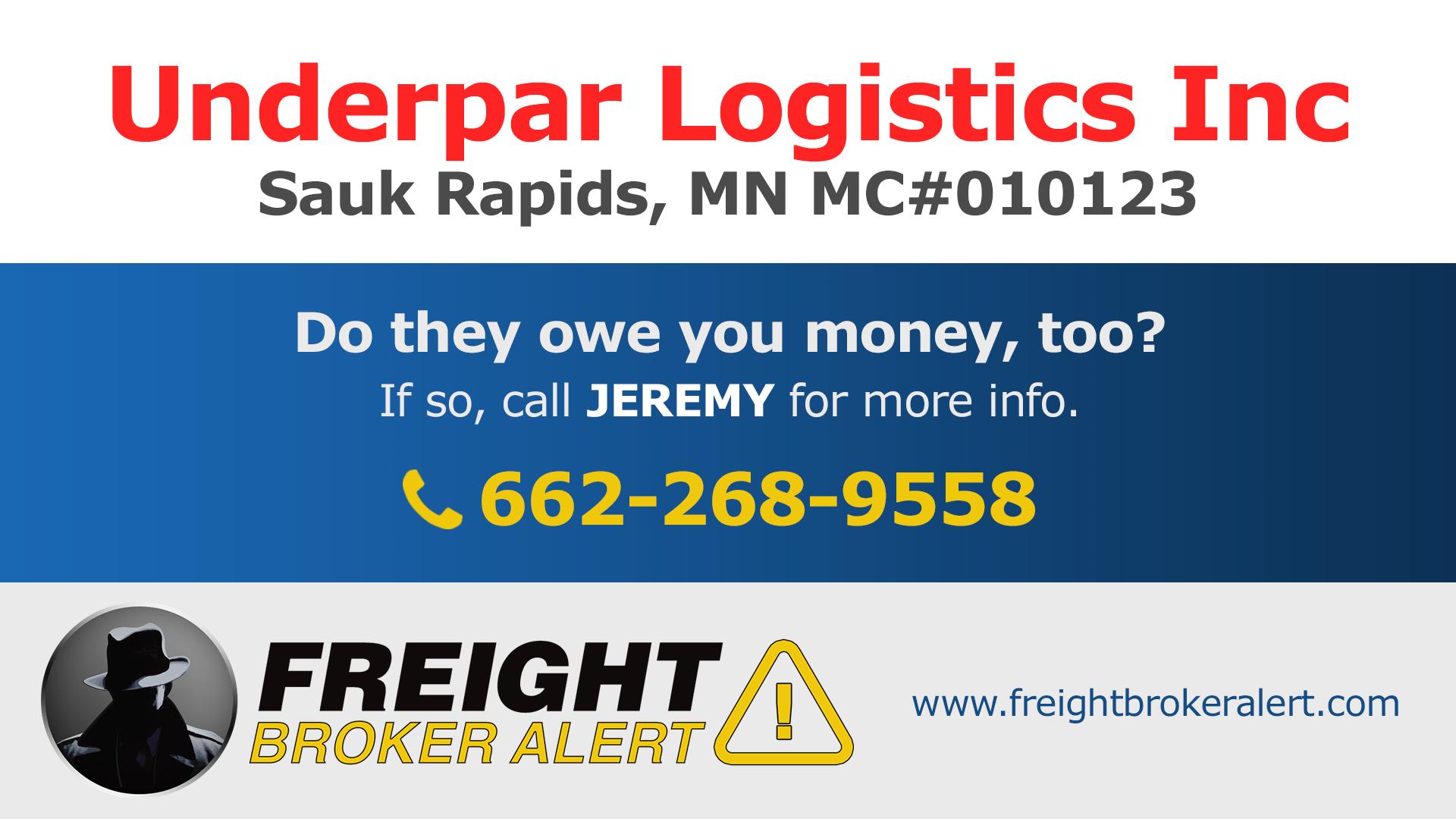 Underpar Logistics Inc Minnesota