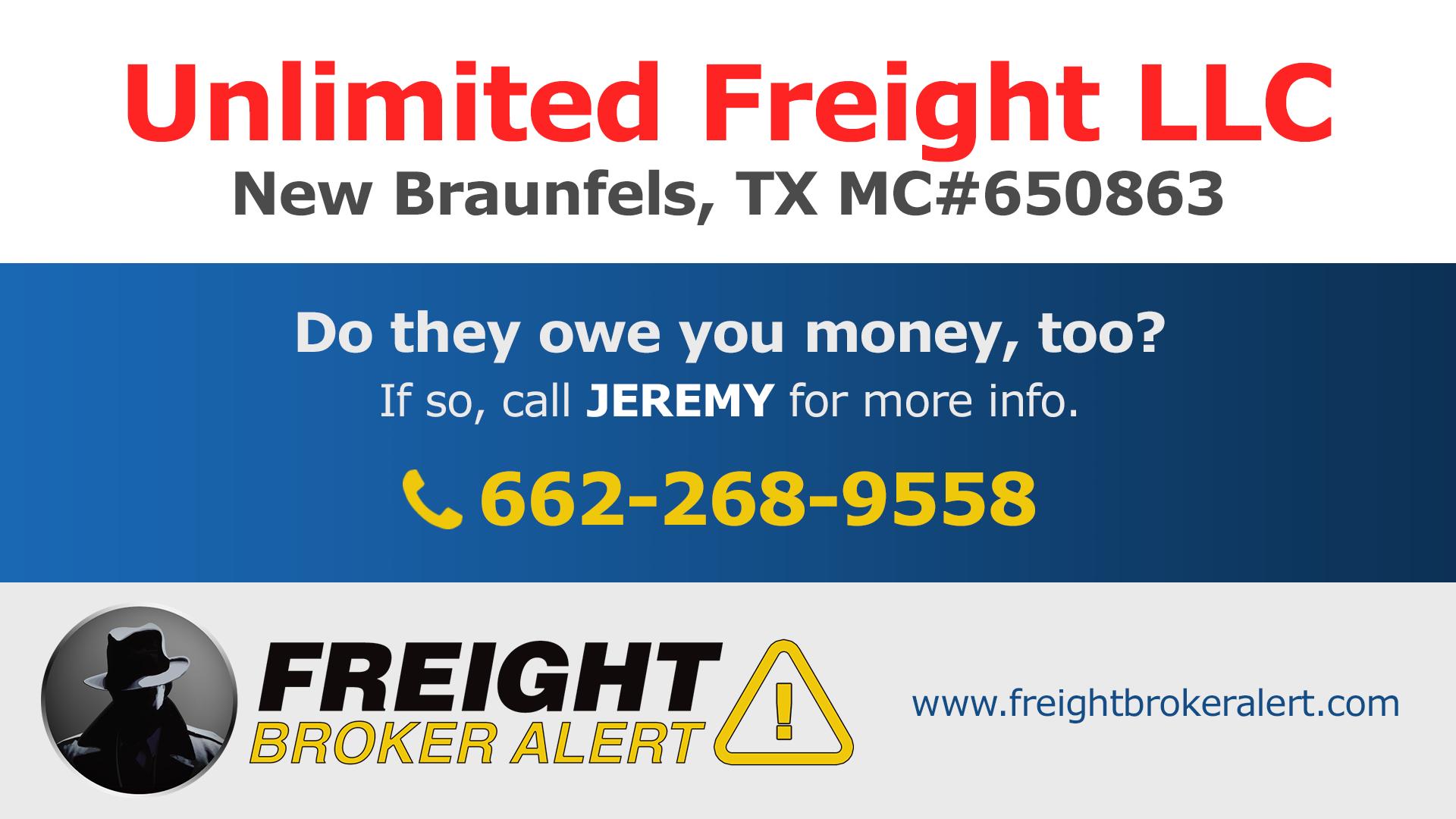 Unlimited Freight LLC Texas