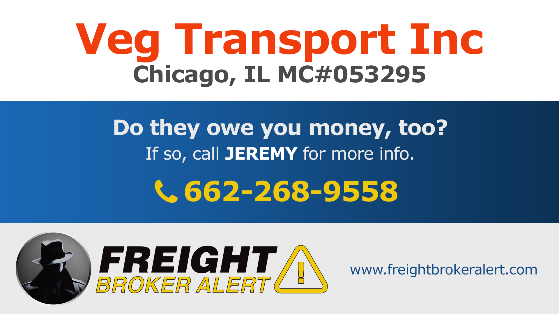 Veg Transport Inc Illinois