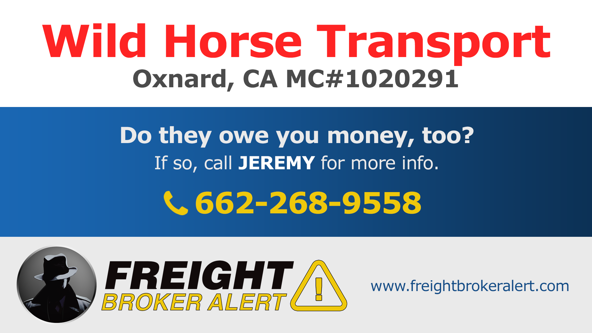 Wild Horse Transport Inc California