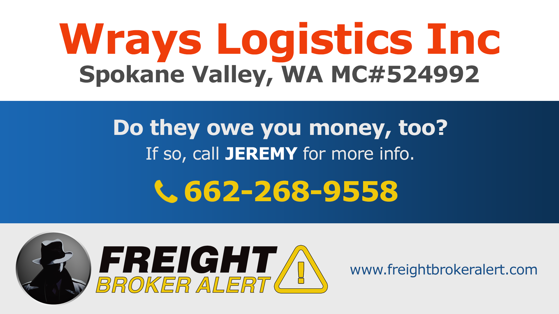 Wrays Logistics Inc Washington